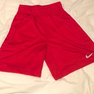 Red Nike youth shorts
